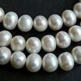 Perles d'eau douce 9-10mm blanc Grade A-30Lot de pommes de terre