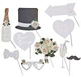 Photo Booth, Requisite, Accessoires photo, fête d'accessoires pour le coin photo de photo sur votre mariage-10pièces