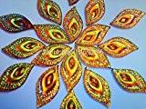 Pierres strass en cristal de couleur dorée Eye navette en résine forme à coudre AB Accessores Courroie perles 16* * ...