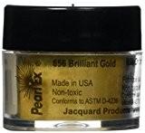 Pigments de jacquard Pearl EX en poudre 3 grammes-brillant or