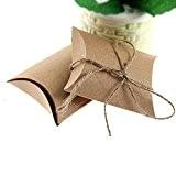 Pixnor 50pcs Kraft boîtes Vintage brun boîtes à bonbons minable boîte faveur de mariage