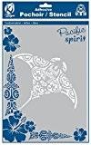 Pochoir adhésif pour tissu Grande raie manta maori A4 - Ki-Sign