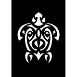 Pochoir adhésif repositionnable 7x10 cm Tortue Maori