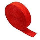 Polypropylène 50mm Sangle en toile-Rouge-10metres