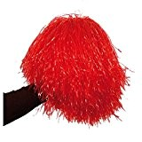 Pom-pom raphia nylon rouge