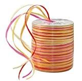 Prasent Bobine de ruban en raphia et rayonne Jaune/multicolore 50 m