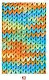 """Print 50 g """"capri"""" - 63?couleur: jaune/vert/bleu-universalbaumwollgarn dimensions avec le classique!"""