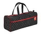 Prym Polka Dot Sac à Tricoter et Coudre avec bordure rouge, coton mélangé, noir/blanc