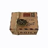QHGstore Robe de mariée rose Beide Wedding Favors Candy Boxes Cadeaux Décorations de mariage Articles pour Fêtes 50pcs rétro boîte ...