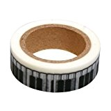 Ray - Masking tape en papier washi blanc touches de piano noir