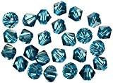 Rayher Hobby  14219392avec cristal Swarovski perles 6mm Diamètre boîte 25pièces turquoise