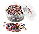 Rayher Hobby  14790999acrylique mélange de pierres de mosaïque marbré acrylique multicolore 1 33x 1 33x 0 64cm