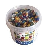 Rayher Hobby  14791999acrylique mélange de pierres de mosaïque de paillettes contenu du de bricolage multicolore 1 33x 1 33x ...