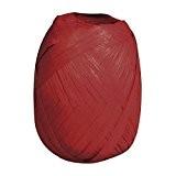 Rayher Hobby  52002290 Fibre de bois 100% Raffia Ficelle 75 m Rouge Bordeaux