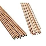 Rayher Hobby  6411800 Baguettes en bois de hêtre exemptes de nœuds 20mmø Longueur 1m