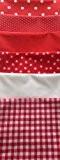RED SET FAT QUARTER BUNDLE **FREE U.K POST** POLYCOTTON POPLIN FABRIC JAPANESE QKT 4000 POLY COTTON MATERIAL FAT QUARTERS PLAIN ...