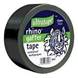 Rhino Ultratape 50mm 50Mtr Multipurpose Gaffer Tapeblk
