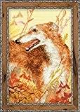 RIOLIS Kit de broderie au point de croix compté Motif lévrier de chasse