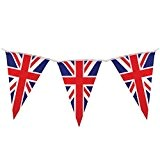 Robelli Banderole avec fanions Motif drapeau anglais 10m