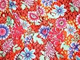 ROWAN KAFFE Fassett printemps 2015Dream Coupons de tissu en popeline rouge-par Fat Quarter + sans Minerva Crafts Craft Guide