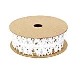 Ruban Dentelle, Satin en Flocon pour Guirlandes Cru, Garniture de Couture, Bricolage Artisanal - Blanc