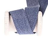 Ruban sangle aspect jean - Bleu chiné