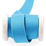 Ruban sangle coton au mètre - Bleu - 25 mm