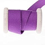 Ruban sangle coton au mètre - Violet - 30 mm