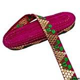 Ruban tissé garniture traditionnelle indienne Saree Border Magenta Garniture Dupatta de mariée en dentelle décorative dentelle par The Yard