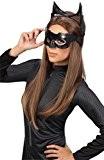 Rubie's Masque de Catwoman Officiel Deluxe Adulte et oreilles Batman Costume-Taille Unique, Noir