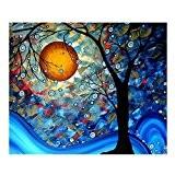 ruimi DIY Diamant 5D Peinture de broderie point de croix Motif arbre Dream collez-le Home Decor 40,6x 40,6cm