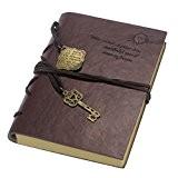 Saingace® New Vintage clé magique Carnet de cordes cuir cahier journal rétro