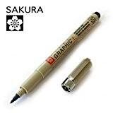 Sakura Sakura Pigma Graphic Pochette-Pigment dessin stylos-Lot de 3-1.0mm-Noir