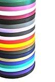 Sangle de 25mm x 5metres en 20couleurs variées pour sacs, Sangles, poignées, Laisse de Chien et colliers, travaux manuels, etc. ...