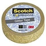 Scotch Ruban Expressions Pailleté Doré 15 mm x 5 m