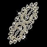 seasofbeauty en cristal transparent avec strass Appliqués à coudre robe mariée mariage DIY à Coudre Craft, Doré, Free