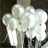 Seguryy Sachet de 100 Ballons Nacrés Perle Latex-10pouces Ballons Décoration pour Anniversaire Mariage Soirée Partie (blanc nacré)