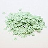 sequins paillettes vert amande opaque x950pcs - 6mm - à coudre ou coller