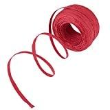 Shappy Raffia Ruban Ruban Cordon Ficelle pour l'Artisanat, Pendaison, l'Emballage et le Bricolage, 1/4 Pouce par 100 Verges, Rouge