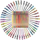 Shemrow Paillettes stylos à encre gel 48Paillette Couleurs de qualité premium Lot de stylos à encre gel pour des livres ...