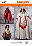 Simplicity 1040Taille Un Homme Et Femme Tailles Cape Costumes Patron de Couture, multicolore