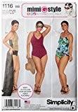 """Simplicity 1116Taille BB 20W/22W/24W au/26W/28W """"Femme et plus Taille de maillot de bain et jupe"""" Patron de Couture"""