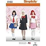 Simplicity 8160Elizabeth Sews Cosplay Costume pour femme, Blanc, Patrons de couture Taille R5