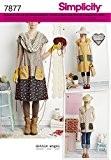 Simplicity S7877.A Patron de Couture Robe/Tunique Papier Blanc 21 x 15 cm
