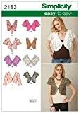 Simplicity U5-16-18-20-22-24-2183Femme facile à coudre Patron de Couture Veste/Gilet sans manches pour homme