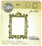 Sizzix 661195 Bigz Die Matrice Cadre Orné par Tim Holtz ABS Plastique/Bois/Acier Multicolore 15 x 14 x 1,7 cm