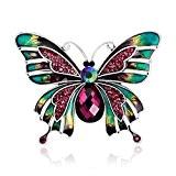 Skyllc® Mode européenne et américaine Style Broche coloré papillon en émail Palais Rétro Pin Corsage
