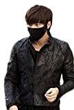 Smile YKK Masques Bouches anti-poussière Charbon actif Unisexe Uni Noir