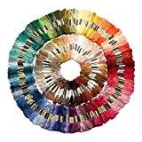 SODIAL(R) 250 echevettes de fil pour point de croix broderie tricotage crochet multicolore