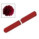 SODIAL(R) 8''Pompon Boule de Fleur en Papier de Soie Decoration de Noce (Rouge)